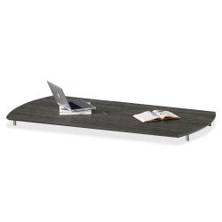 "Mayline Gray Laminate Medina Casegoods Collection - 36"" x 72"" x 1"" - Beveled Edge - Material: Polyvinyl Chloride (PVC) Edge, Steel - Finish: Gray, Laminate, Silver"