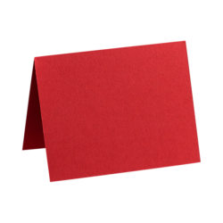 "LUX Folded Cards, A9, 5 1/2"" x 8 1/2"", Ruby Red, Pack Of 250"