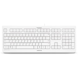 CHERRY KC 1000 Keyboard - Low Cost - Cable Connectivity - USB Interface - English (US) - Calculator, Email, Browser, Sleep Hot Key(s) - Light Gray""