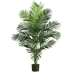 Nearly Natural 5'H Paradise Palm Tree With Pot, Green