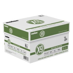 "Boise® X-9® Multi-Use Copy Paper, Legal Size (8 1/2"" x 14""), FSC® Certified, 20 Lb, Ream Of 500 Sheets, Case Of 10 Reams"