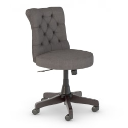 Bush Business Furniture Arden Lane Mid-Back Tufted Office Chair, Dark Gray, Standard Delivery