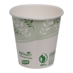 Dixie® EcoSmart® Paper Hot Cups, 10 Oz, Green/White, Case Of 1,000 Cups