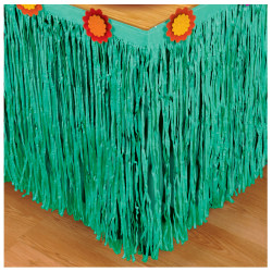 "Amscan Cinco De Mayo Fiesta Table Skirt, 10' x 25"", Teal/Yellow-Orange"