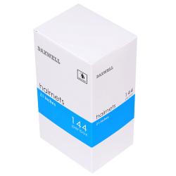 "Daxwell Nylon Hairnets, 21"", Black, Box Of 144"