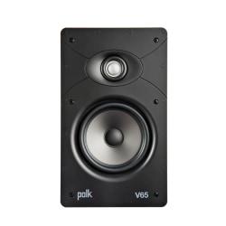 Polk Audio V65 Vanishing V Series High-Performance In-Wall Rectangular Speaker, White, V65