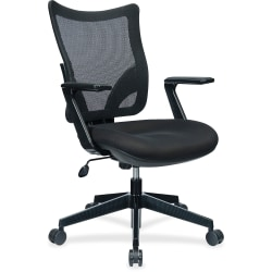 Lorell® S-8 Mesh Back Multifunction Task Chair, Black