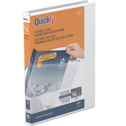"""Stride® QuickFit® Round-Ring View Binder, 50% Recycled, 5/8"""" Rings, White"""