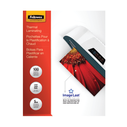 """Fellowes® ImageLast Laminating Pouches, UV Protection, 9"""" x 11 1/2"""", 5 Mil, Glossy, Pack Of 100"""