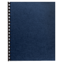 """Fellowes® Linen Classic Presentation Covers, 8 1/2"""" 11"""", Navy, Pack Of 200"""
