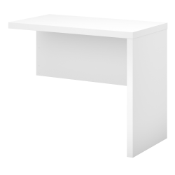 "kathy ireland® Office by Bush Business Furniture Echo 36""W Desk Return, Pure White"
