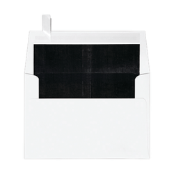 """LUX Foil-Lined Invitation Envelopes With Peel & Press Closure, A4, 4 1/4"""" x 6 1/4"""", White/Black, Pack Of 250"""