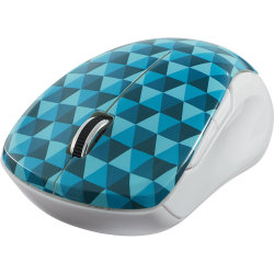 Verbatim® Wireless USB Type A Notebook Multi-Trac Blue LED Mouse, Diamond Pattern Blue