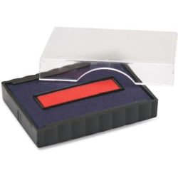 Trodat Stamp Replacement Pad - 1 Each - Blue, Red Ink - Plastic