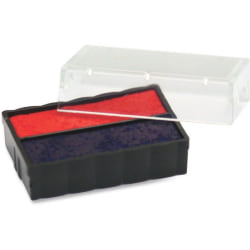 Trodat E4850L Replacement Ink Pad - 1 Each - Blue, Red Ink - Blue - Plastic