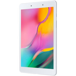 "Samsung Galaxy Tab A SM-T290 Tablet - 8"" - 2 GB RAM - 32 GB Storage - Android 9.0 Pie - Silver - Qualcomm Snapdragon 429 SoC Quad-core (4 Core) 2 GHz microSD Supported - 1280 x 800 - Plane to Line (PLS) Switching Display - 2 Megapixel Front Camera"
