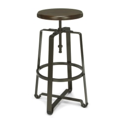 OFM Endure Series Tall Stool, Walnut/Dark Vein