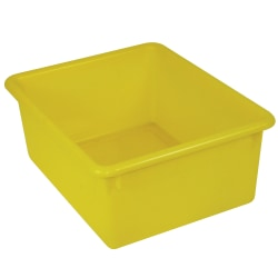 """Stowaway® 5"""" Letter Box, No Lid, 5""""H x 10 1/2""""W x 13""""D, Yellow, Pack Of 4"""