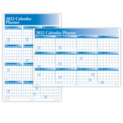 "ComplyRight™ Calendar Planner, 36"" x 24"", Blue, 2021"