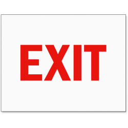 Tarifold Safety Sign Inserts - 6 / Pack - Exit Print/Message - Rectangular Shape - Red Print/Message Color - Tear Resistant, Water Proof, Durable, Long Lasting - Paper - White