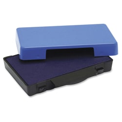 U.S. Stamp & Sign T5030 Replacement Ink Pad - 1 Each - Blue Ink - Plastic