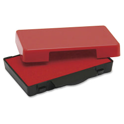 U.S. Stamp & Sign T5444 Replacement Ink Pad - 1 Each - Red Ink - Plastic