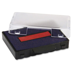 U.S. Stamp & Sign T5117 Replacement Ink Pad - 1 Each - Blue, Red Ink - Plastic