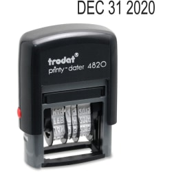"""Trodat 4820 Self-Inking Stamp, Date Only, 3/8"""" x 1 5/8"""", 65% Recycled, Black"""