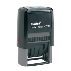 "Trodat Self-Inking Stamp, Date/Message, ""RECEIVED"", 1"" x 1 5/8"", 65% Recycled, Red/Blue"