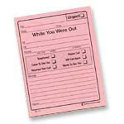 """Adams® """"While You Were Out"""" Message Pads, 4 1/4"""" x 5 1/2"""", 50 Sheets, Pink, Pack Of 24"""