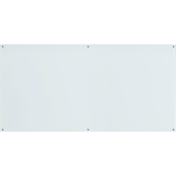 "Lorell® Premium Glass Frameless Dry-Erase Board, 48"" x 96"", White"