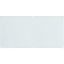 "Lorell® Premium Glass Unframed Dry-Erase Whiteboard, 48"" x 96"", White"