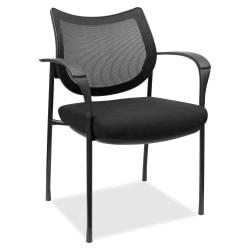 Lorell® Mesh/Fabric Guest Chair, Black