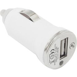 4XEM Universal USB Car Charger For iPhone/iPod/USB Devices (White) - 5 V DC/1 A Output