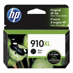 HP 910XL High Yield Original Ink Cartridge, Black (3YL65AN)