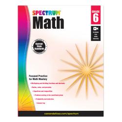 Carson-Dellosa Spectrum Math Workbook, Grade 6