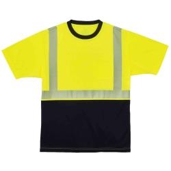 Ergodyne GloWear 8280BK Type R Class 2 Performance T-Shirt, 5X, Lime