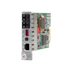 iConverter 10/100 Ethernet Fiber Media Converter RJ45 SC Single-Mode 30km Module - 1 x 10/100BASE-TX; 1 x 100BASE-LX; Internal Module; Lifetime Warranty