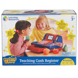 "Learning Resources® Pretend & Play® Teaching Cash Register, 8""H x 9 1/2""W x 13""D, Grades Pre-K - 1"