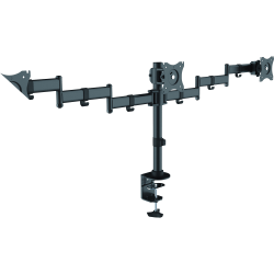 "Lorell Active Office Mounting Arm for Monitor - Black - 3 Display(s) Supported27"" Screen Support"