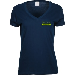 Ladies Cotton Vneck Tshirt Screened