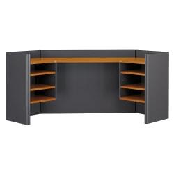 "Bush Business Furniture Office Advantage Corner Hutch 42""W, Natural Cherry/Slate, Standard Delivery"