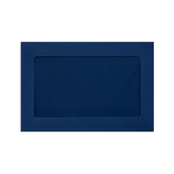 "LUX Full-Face Window Envelopes With Peel & Press Closure, #6 1/2, 6"" x 9"", Navy, Pack Of 50"