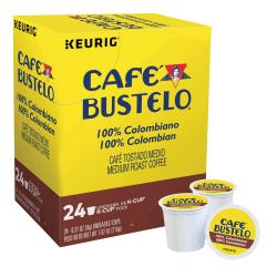 Cafe Bustelo 100% Colombian Single-Serve Coffee K-Cup®, 0.31 Oz, Box Of 24