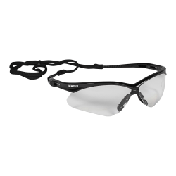 KleenGuard V30 Nemesis Safety Eyewear - Flexible, Lightweight, Comfortable, Scratch Resistant - Ultraviolet Protection - Polycarbonate Lens - Clear, Black - 12 / Carton