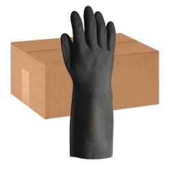 ProGuard Long-sleeve Lined Neoprene Gloves - Large Size - Neoprene - Black - Chemical Resistant, Embossed Grip, Extra Heavyweight, Flock-lined, Tear Resistant, Oil Resistant, Grease Resistant, Acid Resistant, Long Sleeve - For Chemical, Acid Handling