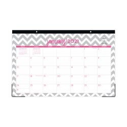 """Dabney Lee for Blue Sky™ Monthly Desk Pad Calendar, 17"""" x 11"""", Ollie, January to December 2021, 102138"""