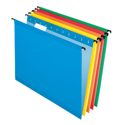 Pendaflex® SureHook® Technology Hanging File Folders, Letter Size, Assorted Colors, Box Of 20 Folders