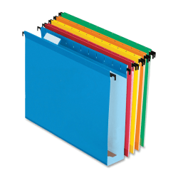 "Pendaflex® Extra-Capacity Hanging File Folders, 2"" Expansion, Letter Size, Assorted Colors, Box Of 20 Folders"