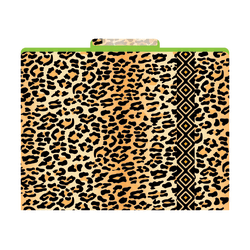 "Barker Creek Tab File Folders, 8 1/2"" x 11"", Letter Size, Leopard, Pack Of 12"